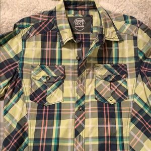 Green BKE short sleeve button up